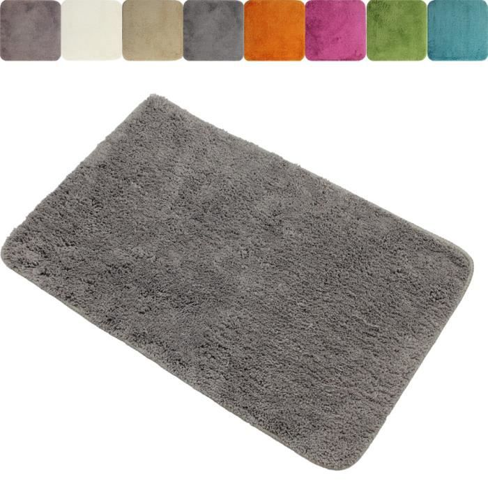 Tapis de salle de bain XXL anti-glissant 70 x 120 cm de proheim - Couleur:  Gris