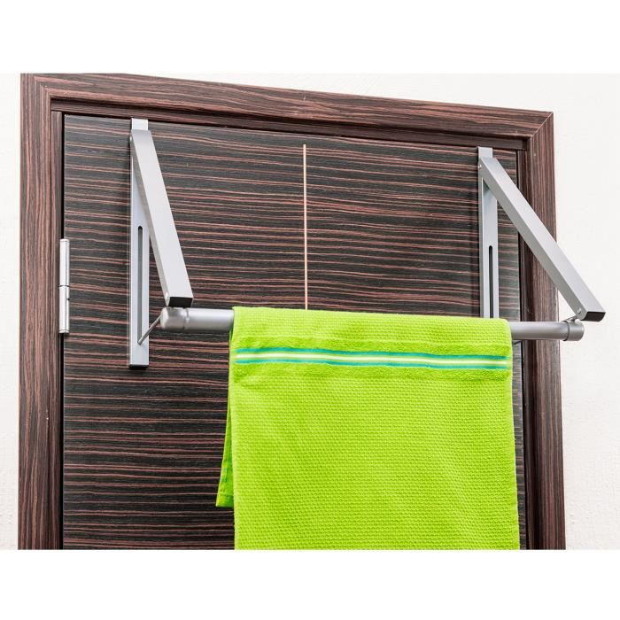 Barre Pour Rideau De Porte tatkraft bridge tringle pliable de porte | cintre porte serviette