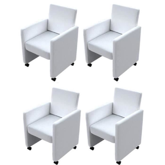 chaise fauteuil blanc salle a manger - achat / vente chaise