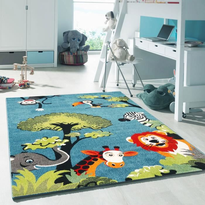 tapis chambre enfant kids safari achat vente tapis cdiscount. Black Bedroom Furniture Sets. Home Design Ideas