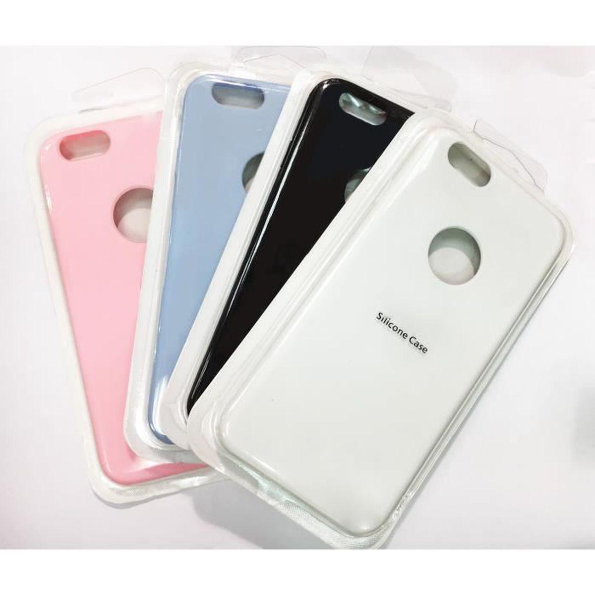coque iphone 7 noir gomme