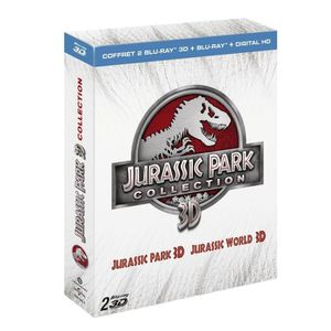 BLU-RAY FILM Blu-ray 3D Coffret Jurassic Park / Jurassic World