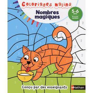 DOCUMENTAIRE ENFANT NATHAN Coloriages Malins - Nombres Magiques Grande