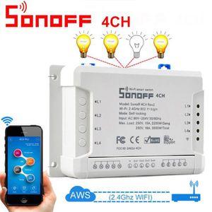 PLAQUE DE FINITION Sonoff 4CH R2 Canal Smart Remote WiFI Commutateur