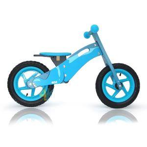 DRAISIENNE Draisienne bois garçon-fille bleu roues pneumatiqu