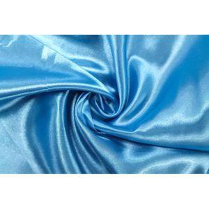 TISSU Tissu Satin Polyester Turquoise -Au Mètre