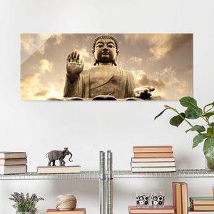 CADRE PHOTO 40x100 cm verre image - big buddha sépia - croix p
