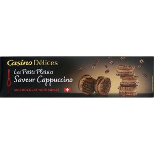 BISCUITS SECS CASINO DELICES Biscuits saveur Cappuccino - 100g