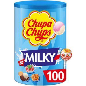 CONFISERIE DE SUCRE Sucettes Chupa Chups saveur de crème, 100 pièces