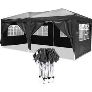 TONNELLE - BARNUM Tonnelle Tente de réception pliante 3 x 6 m - chap