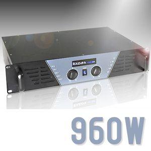 AMPLI PUISSANCE ampli mosfet DJ sono disco 960W pro neuf LED