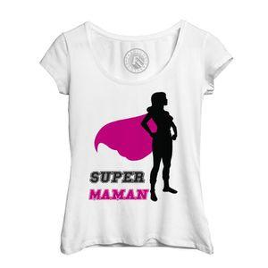 T-SHIRT T-Shirt Femme Super Maman Super Héroïne Cape