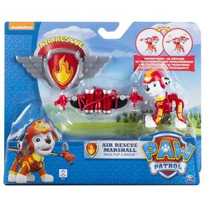 FIGURINE - PERSONNAGE  Paw Patrol Air Rescue Marshall pack Pup & Badge P