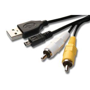 CÂBLE PHOTO Câble USB et AV pour NIKON CoolPix L610, S6150, S6