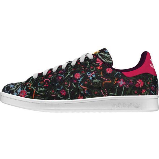 Adidas original stan smith fleurs baroque flower Noir ...