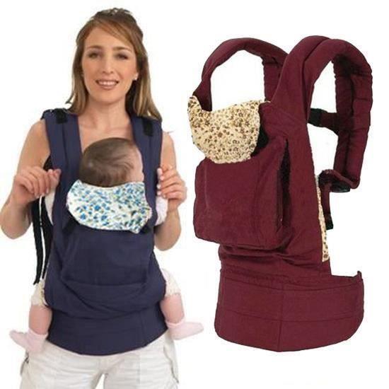 Nouveau-né Porte-bébé Multifonctionnel Porte bébé Mains Libres Réglable Confortable Sangle Sling Wrap Baby Carrier sac à dos Rouge