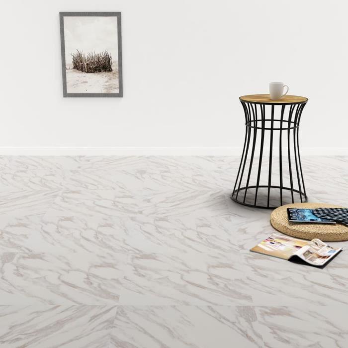 Planche de plancher PVC autoadhésif 5,11 m² Blanc Marbre -YNF