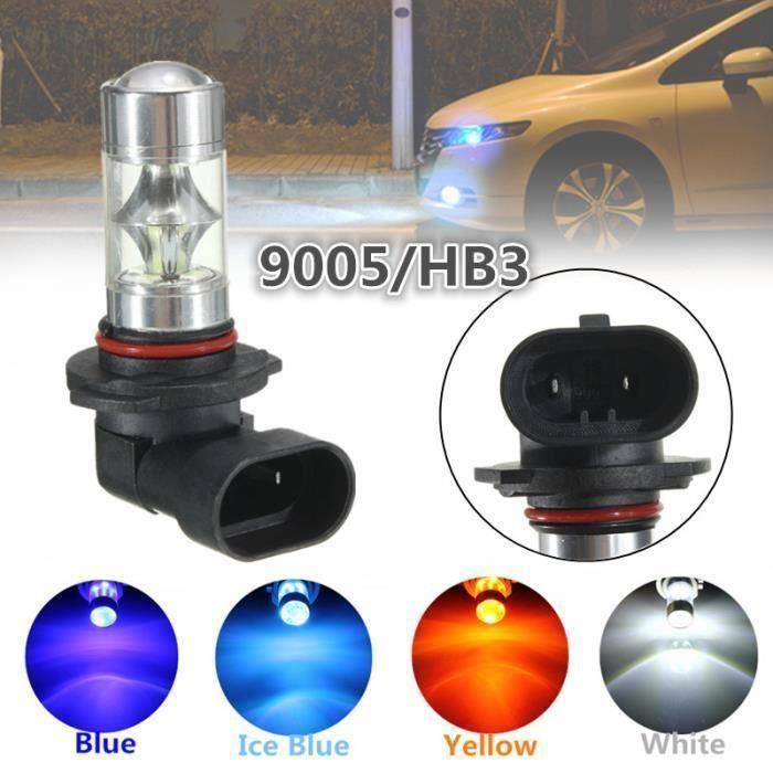 JL Led Ampoules 9005 Hb3 - Ice Blue - 1Pc H8 - H11 9006 - Hb4 H7 9005 - Hb3 H10 H9 H7 60W Voiture Brouillard A...... -