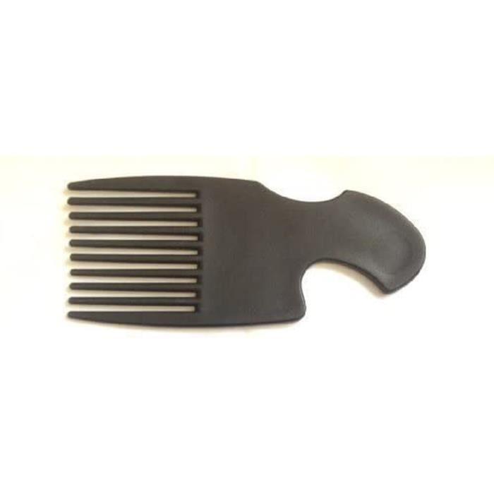 Noir Mat Afro Peigne Démêlant Cheveux Brosse Sac à Main Taille