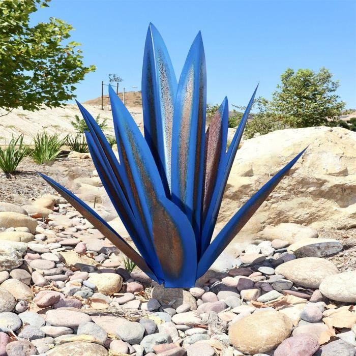 Objet Decoratif 25 -Metal Art Tequila Sculpture Rustique Jardin Yard Décor À La Maison 9 Feuilles Ngh210219103Db