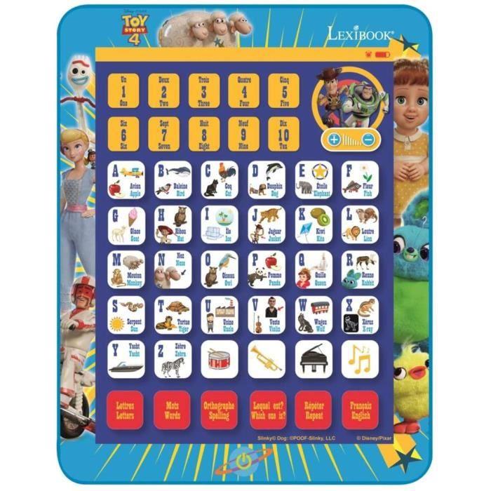 Tablettes tactiles et accessoires pour enfants Lexibook Disney Toy Story 4 Woody Buzz Tablette éducative bilingue, Jouet 280259