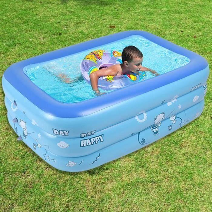 Umiwe Piscine gonflable pour enfant Bleu 120cm en PVC