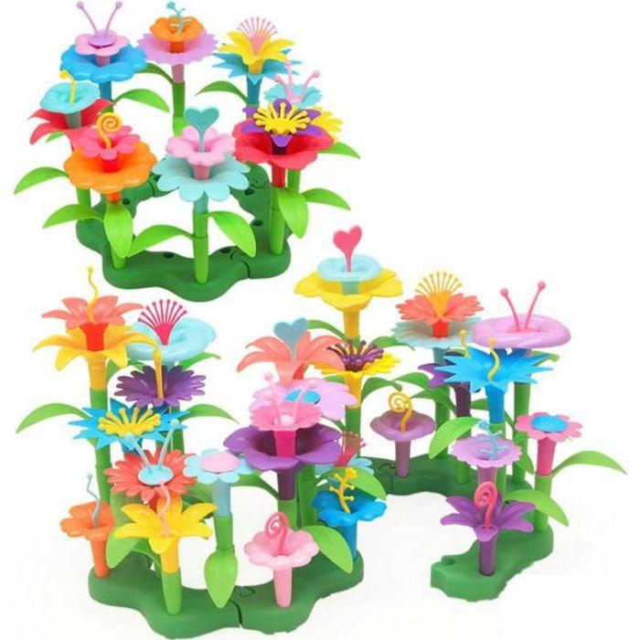 Jouet Fille DIY 3-6 Ans Joy-Fun Fleur Jeux de Construction Creatifs Enfant 98 pcs Bloc Cadeau de Noël Cadeaux d'anniversaire