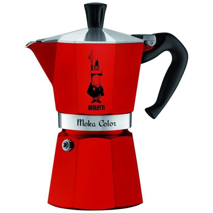 Bialetti - cafetière italienne 3 tasses rouge - 0009132