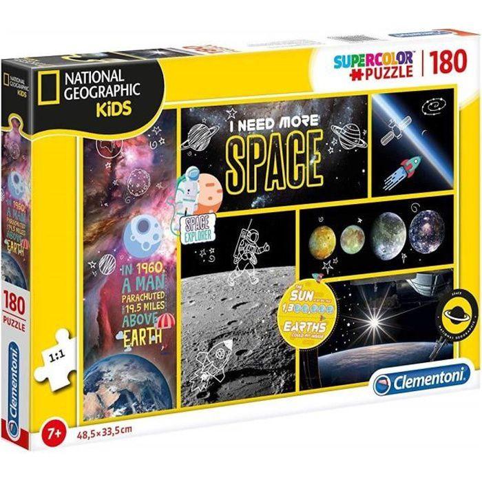 Puzzle 180 Pieces les Planetes Et L Espace - Puzzle Enfant - Collection National Geographic