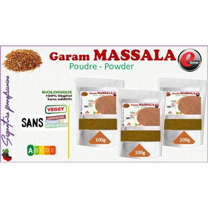 Garam massala sélection panafricaine - 3x 100g-
