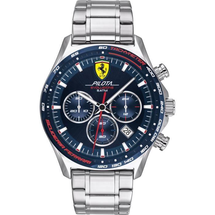 Ferrari-Montre Chronographe pour Hommes à movement Quartz en Acier inoxydable - 0830749