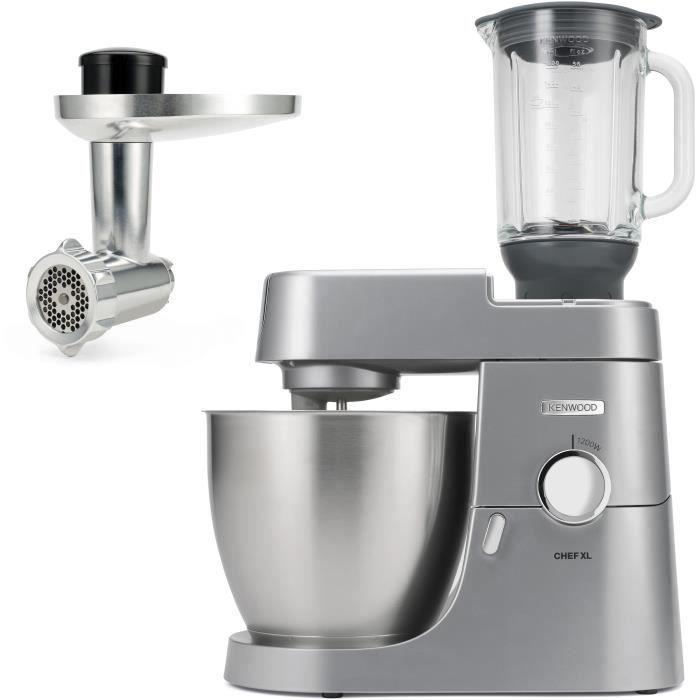 Robot pâtissier Chef XL 6,7L Blender + Hachoir métal - KENWOOD KVL4170S - Coloris Silver