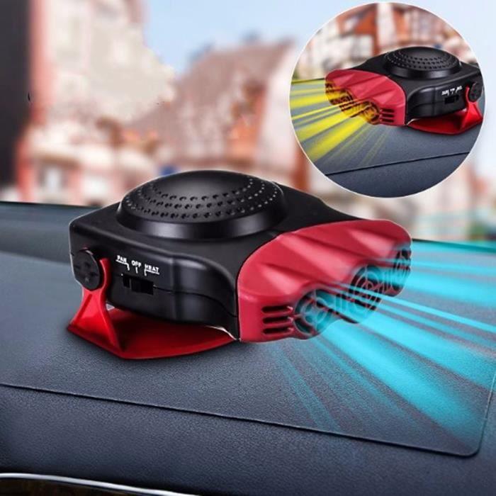 2 En 1 12V 150W Auto Voiture Chauffe Portable Ventilateur de chauffage Avec poignée pivotante Dégivreur de pare-brise Dégivreur