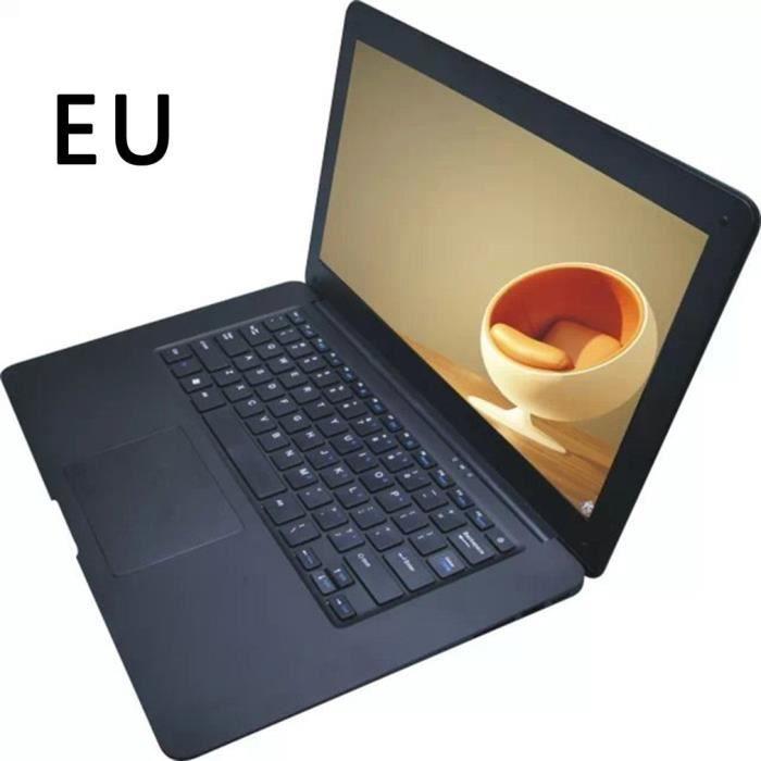 Ordinateur portable 1080P 2 Go de RAM 32 Go Emmc Intel Atom Z8350 Quad Core Cpu avec Autocollants de clavier de langue français
