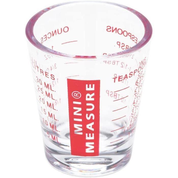Patisse mini-mesureur 6,1 x 0,5 cm 30 ml transparent/rouge
