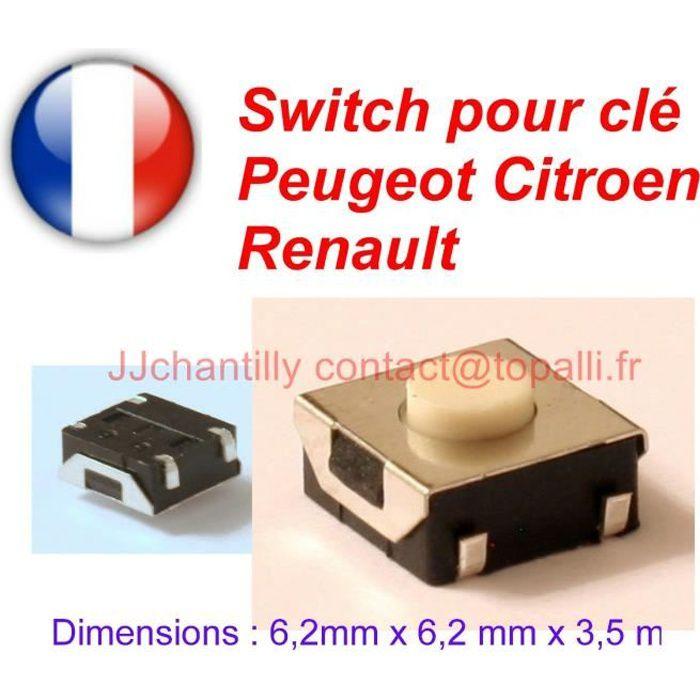 Switch bouton pour télécommande clé renault