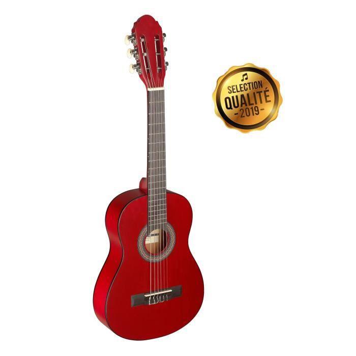 STAGG Guitare Classique C405 M 1-3 Ans Rouge