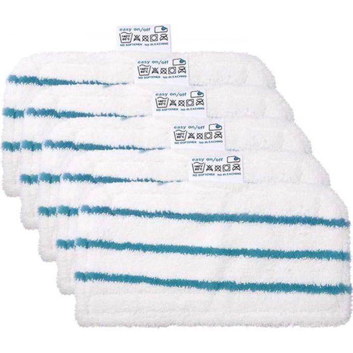 Lot de 5 tampons de Nettoyage de Rechange lavables Lingettes en Microfibre pour Balai Vapeur Black & Decker FSM1610/1630