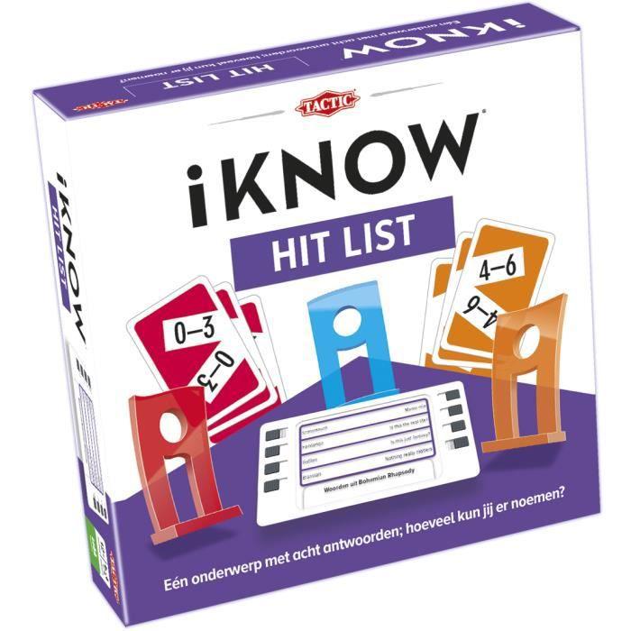 Tactic iKNOW Hit List, Jeu de questions, Enfants, 30 min, 12 année(s), 300 pièce(s), Intérieur