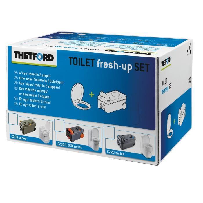 THETFORD Kit Renov'Toilettes Kit rechange pour C2-C3-C4 version gauche - Avec cassette roulette