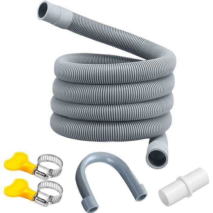 Flexible d'évacuation universel,Tuyau de vidange pour machine à laver,rallonge de tuyau pour lave-vaisselle,Tuyau d'évacuation d'eau