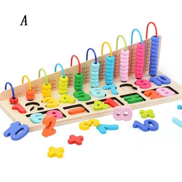 En bois Horloge Puzzle jouet éducatif enfants facile apprendre le temps et Nombre