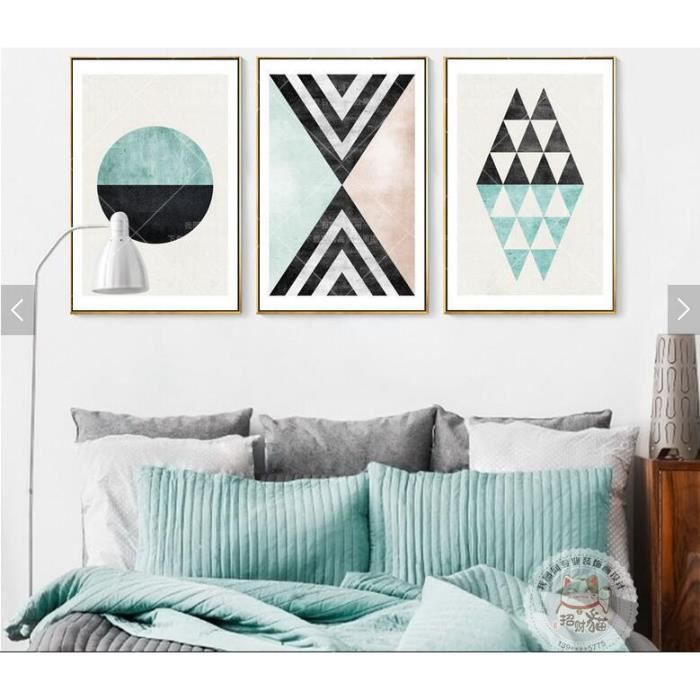 3 pi ces non encadr es scandinave moderne nouveaut abstrait art g om trique salle de s jour. Black Bedroom Furniture Sets. Home Design Ideas
