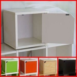 tag re cube m73 modulable avec porte blanc achat vente etag re murale tag re cube m73. Black Bedroom Furniture Sets. Home Design Ideas