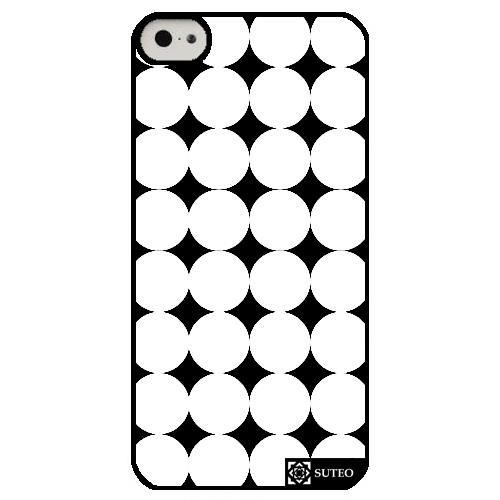coque iphone 5c forme g om trique cercle blanc sur fond noir ref 174 achat coque. Black Bedroom Furniture Sets. Home Design Ideas