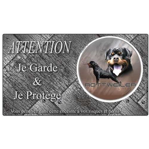 plaque de garde rottweiler metal achat vente plaque. Black Bedroom Furniture Sets. Home Design Ideas