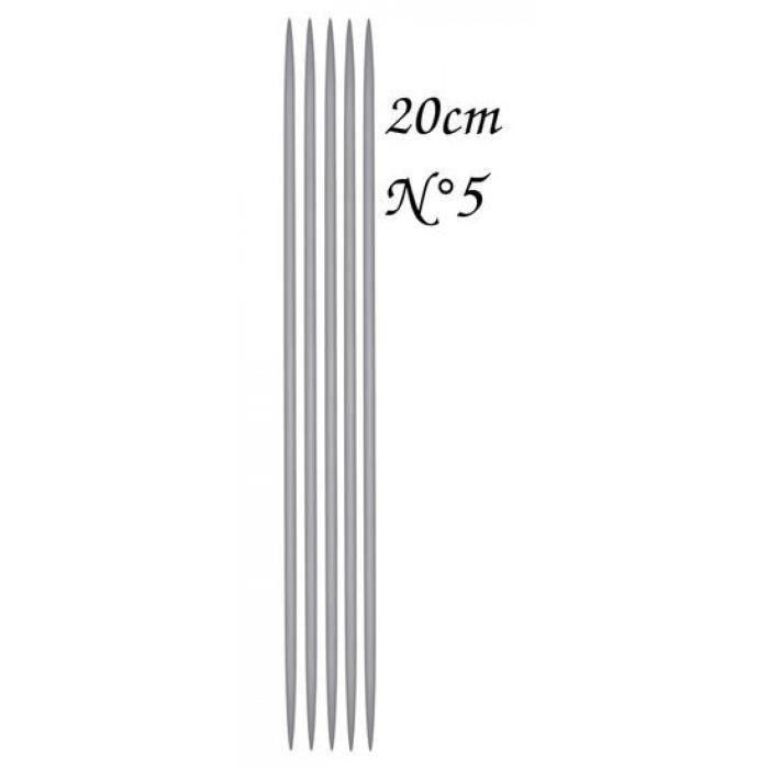 3.5 MM 5 AIGUILLES A TRICOTER Longueur 20 cm