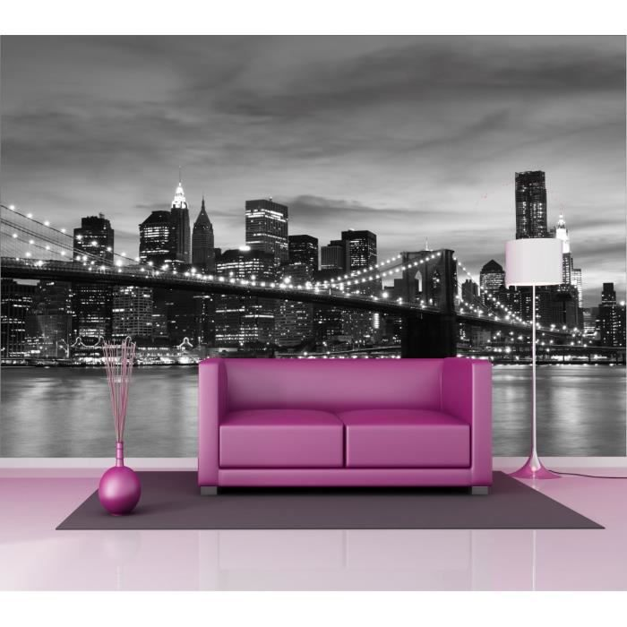 stickers muraux g ant d co new york manhattan dimensions 235x160cm achat vente stickers. Black Bedroom Furniture Sets. Home Design Ideas