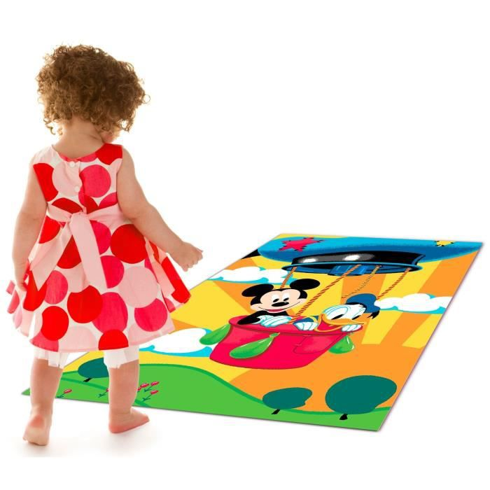 mickey tapis enfant mickey et donald 95x133cm achat vente tapis cdiscount. Black Bedroom Furniture Sets. Home Design Ideas