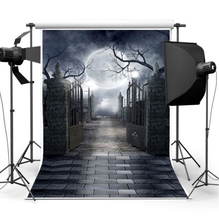 toile fond photographie studio photo halloween props d cor f te contexte vinyle achat vente. Black Bedroom Furniture Sets. Home Design Ideas